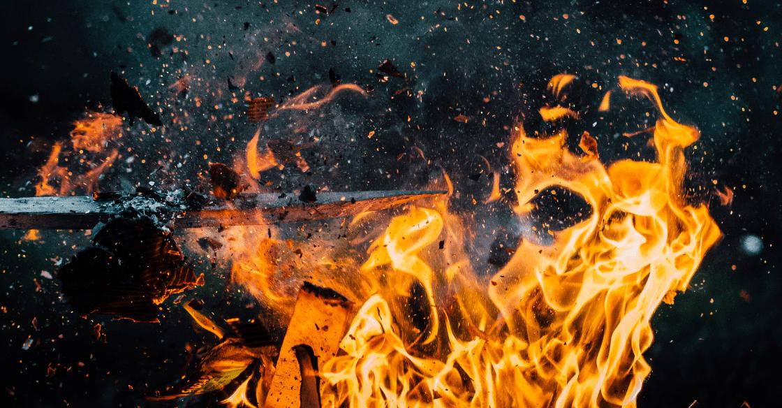 Trash fire safety