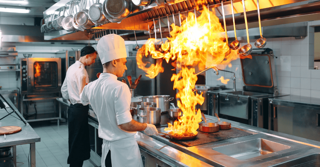 commercial kitchen fire